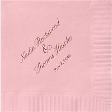 Modern Blush Custom Cocktail Napkins