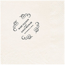 Vintage Scrolls Custom Lunch Napkins