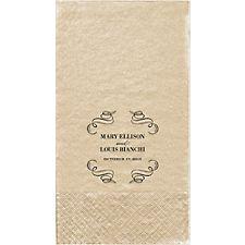 Vintage Scrolls Custom Guest Napkins