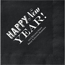 Happy New Year Custom Cocktail Napkins