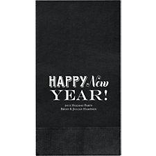 Happy New Year Custom Guest Napkins