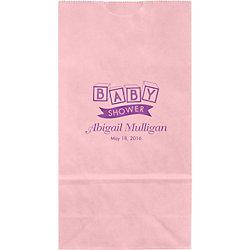 Blocks Baby Shower Small Custom Favor Bags