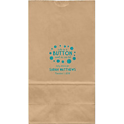Button Baby Shower Large Custom Favor Bags