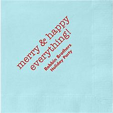 Merry & Happy Everything Custom Cocktail Napkins