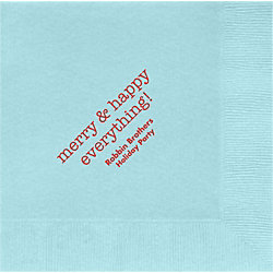 Merry & Happy Everything Custom Lunch Napkins