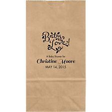 Chalkboard Script Small Custom Favor Bags