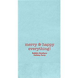 Merry & Happy Everything Custom Guest Napkins
