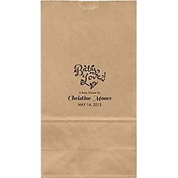 Chalkboard Script Large Custom Favor Bags