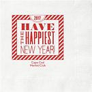 New Year Typography Custom Cocktail Napkins