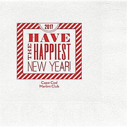 New Year Typography Custom Lunch Napkins