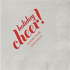 Holiday Cheer Custom Cocktail Napkins