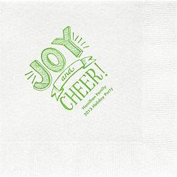 Joy and Cheer Custom Lunch Napkins