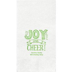 Joy and Cheer Custom Guest Napkins