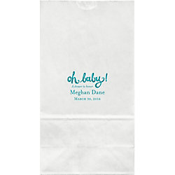 Oh Baby Shower Large Custom Favor Bags