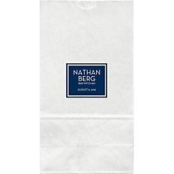 Block Color Mitzvah Large Custom Favor Bags