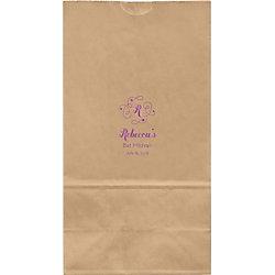 Flourish Monogram Mitzvah Large Custom Favor Bags