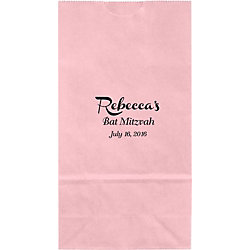 French Script Small Custom Favor Bags