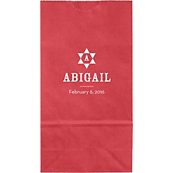 Geometric Star Mitzvah Small Custom Favor Bags