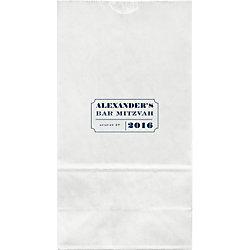 Ticket Mitzvah Large Custom Favor Bags