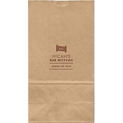 Torah Scroll Mitzvah Large Custom Favor Bags