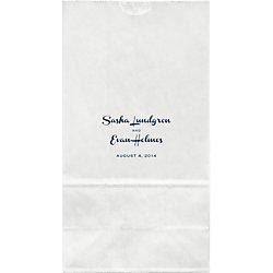 French Script Wedding Large Custom Favor Bags