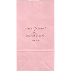 Modern Blush Small Custom Favor Bags