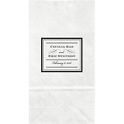 Pearl Border Small Custom Favor Bags