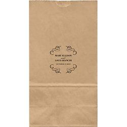 Vintage Scrolls Large Custom Favor Bags