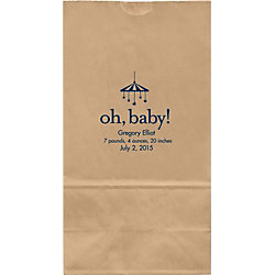 Oh Baby Mobile Large Custom Favor Bags
