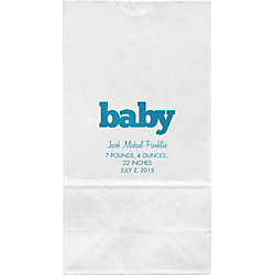 Block Letter Large Custom Favor Bags