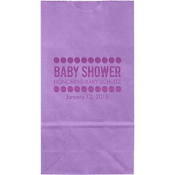 Baby Shower Dots Small Custom Favor Bags
