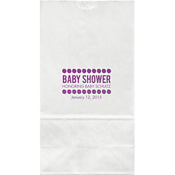 Baby Shower Dots Large Custom Favor Bags