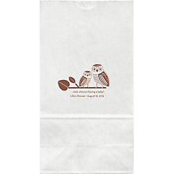 Owls Baby Shower Large Custom Favor Bags