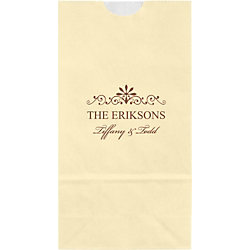 Decorative Scrolls Small Custom Favor Bags