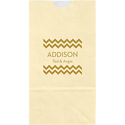 Chevron Small Custom Favor Bags