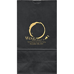 Wine Dine Large Custom Favor Bags
