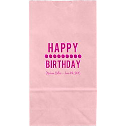 Happy Birthday Dots Small Custom Favor Bags