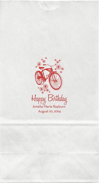 Bicycle Large Custom Favor Bags