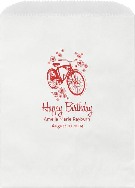 Bicycle Custom Wax Lined Bags