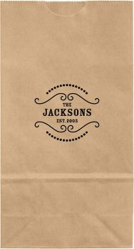 Saloon Small Custom Favor Bags