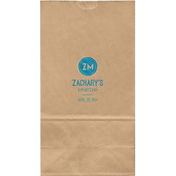 Circle Monogram Mitzvah Large Custom Favor Bags