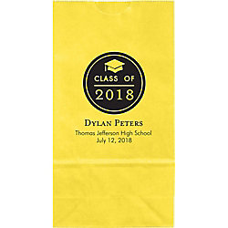 Graduation Button Small Custom Favor Bags