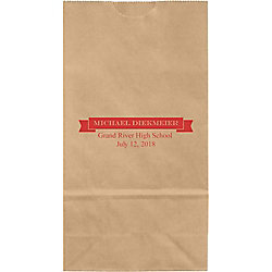 Graduation Banner Small Custom Favor Bags