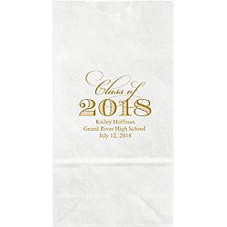 Script Class of Graduation Small Custom Favor Bags