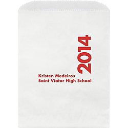 Class Year Graduation Custom Wax Lined Bags