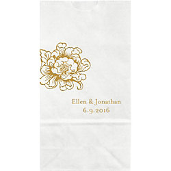 Cottage Blooms Small Custom Favor Bags