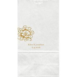 Cottage Blooms Large Custom Favor Bags