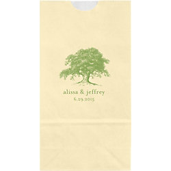 Oak Tree Small Custom Favor Bags
