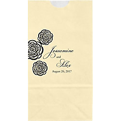 Roses Small Custom Favor Bags