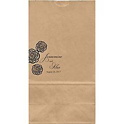 Roses Large Custom Favor Bags